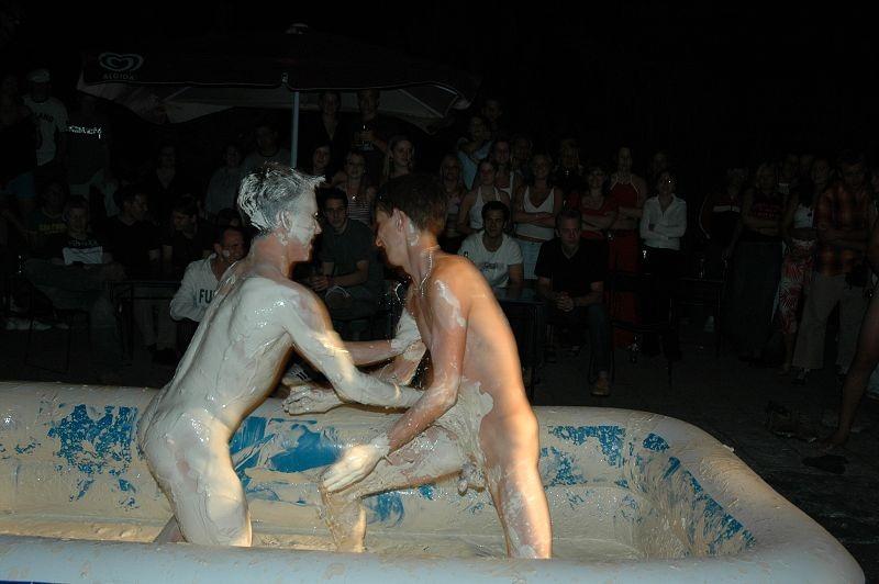 Naked Boys Wrestling